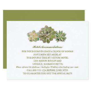 Trio Succulents Watercolor Sage | Wedding INFO Card