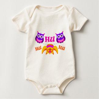 Triolium - owl party baby bodysuit