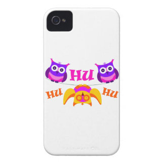 Triolium - owl party iPhone 4 case