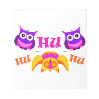 Triolium - owl party notepad