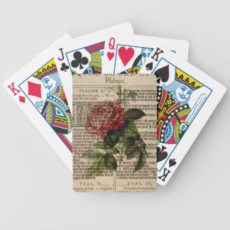 Triomphe de Valenciennes Flower Bicycle Playing Cards
