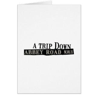 Trip Down Abbey Road Card