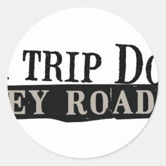 Trip Down Abbey Road Classic Round Sticker