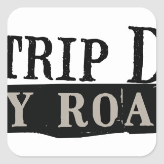 Trip Down Abbey Road Square Sticker