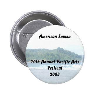 triparoundtown 130, American Samoa10th Annual P... 6 Cm Round Badge