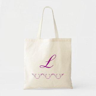 """Triple Arch Flourish"" Purple Tote Bag"