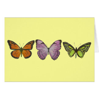 Triple Butterfly Card