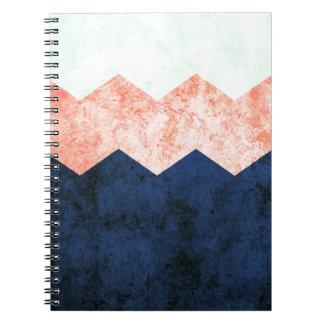 triple chevron notebook