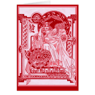 Triple Corbie Queen Card