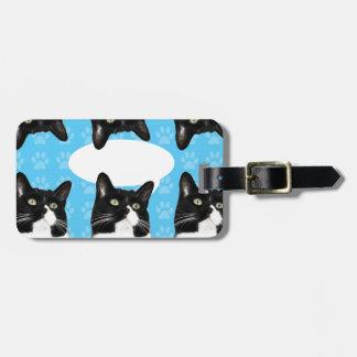 Triple Cute Custom Kitty Luggage Tag