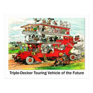 Triple-decker Touring Vehicle of the Future Postcard