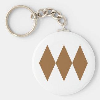 Triple Diamond Keychain