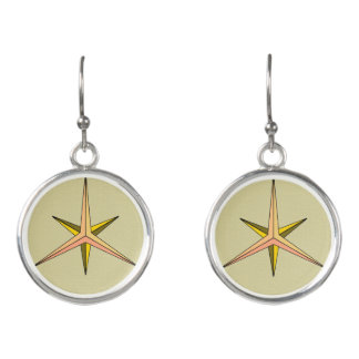 Triple Digger Circle Drop Earrings
