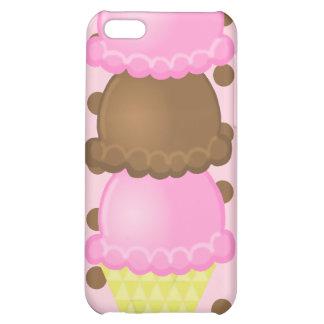 Triple Dip Ice Cream Cone iPhone 4G Case Case For iPhone 5C