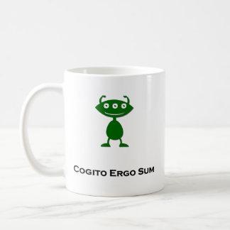 Triple Eye Cogito Ergo Sum green Classic White Coffee Mug