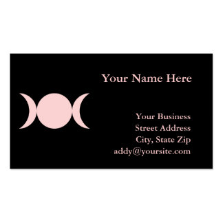 Triple Goddess Double-Sided Standard Business Cards (Pack Of 100)