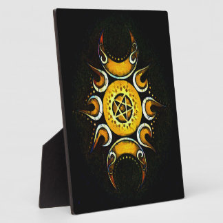 Triple Goddess Crowned - Dark Photo Plaques
