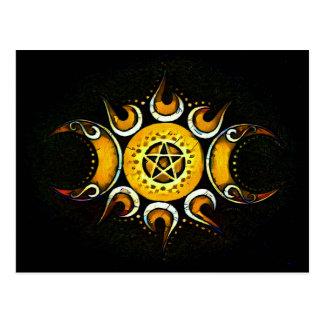 Triple Goddess Crowned - Dark Postcard