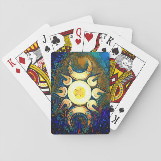 Triple Goddess Crowned Playing Cards