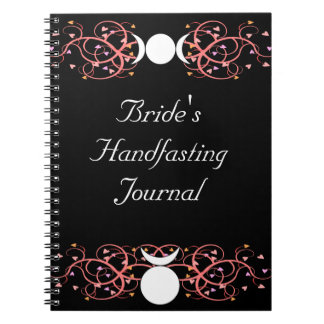 Triple Goddess & Horned God Wiccan Bride's Journal Notebooks