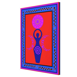 Triple Goddess Moon Phase Canvas Print