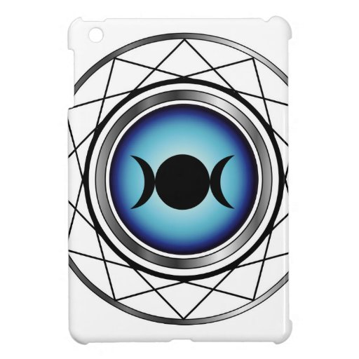 Triple goddess moon symbol iPad mini cases