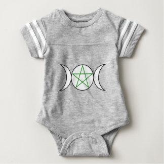 Triple-Goddess-Pentagram Baby Bodysuit