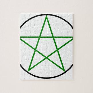 Triple-Goddess-Pentagram Jigsaw Puzzle