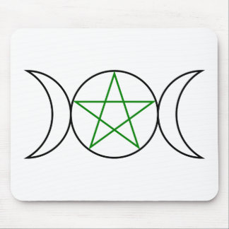 Triple-Goddess-Pentagram Mouse Pad