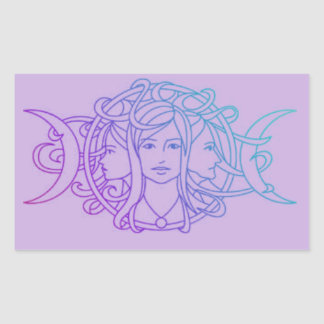 Triple Goddess Rectangular Sticker
