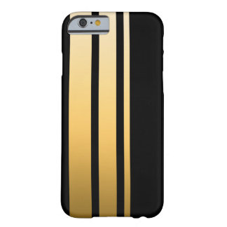 Triple Gold Stripe Barely There iPhone 6 Case