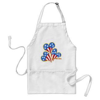 Triple Hearts USA Chef's apron