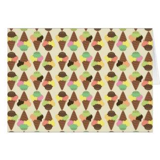 triple icecream pattern card