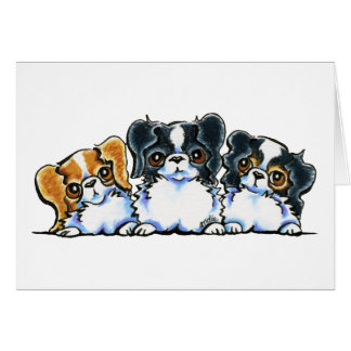 Triple Japanese Chin Card