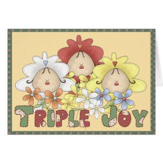 Triple Joy Triplets Greeting Card