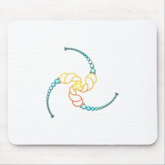 Triple Julia Set Crop-Circle Mouse Pad