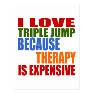 Triple Jump Is My Therapy Postcard