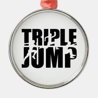 Triple jump metal ornament