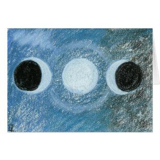 Triple Moon Card
