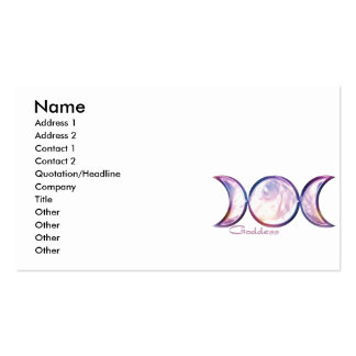 triple moon goddess iridescent pearl business card templates