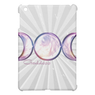 triple moon goddess iridescent pearl iPad mini cases