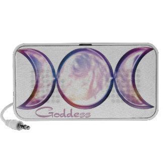 triple moon goddess iridescent pearl portable speaker