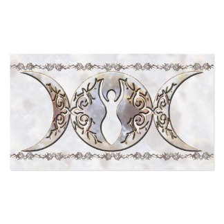 Triple Moon Moonstone Goddess Double-Sided Standard Business Cards (Pack Of 100)