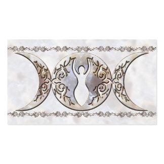Triple Moon Moonstone Goddess Pack Of Standard Business Cards