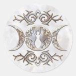 Triple Moon Moonstone Goddess Sticker