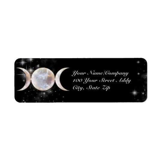 Triple Moon Moonstone Return Address Label