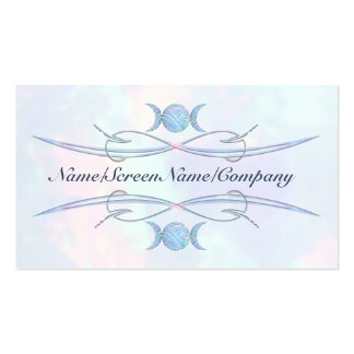 Triple Moon Opal Double-Sided Standard Business Cards (Pack Of 100)