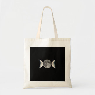 triple moon tote bag