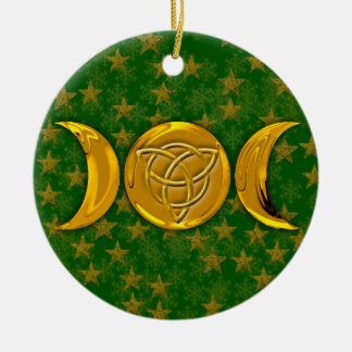 Triple Moon & Tri-Quatra #3 Ceramic Ornament