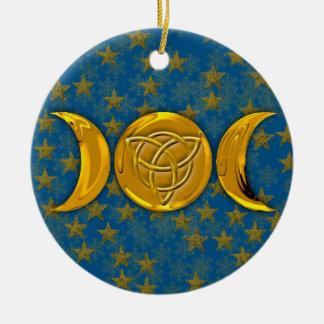 Triple Moon & Tri-Quatra #5 Ceramic Ornament